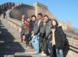 Volunteers on the Great Wall of China