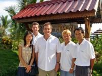 Thailand, Projects Abroad in Thailand - Dr. Peter Slowe with Thai Staff