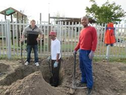 An Agriculture & Farming volunteer works with the Etafeni organization in Cape Town, South Africa