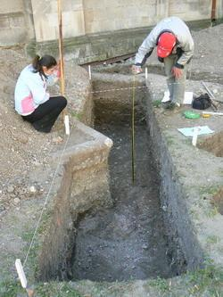 Measuring a trench