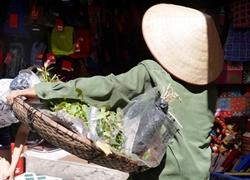 Scenic photo of local vendor on Hanoi street, Vietnam