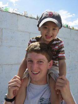 Care volunteer at an orphanage