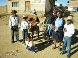 Visiting a rural village in Bolivia