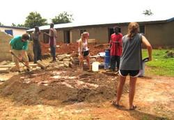 Mixing mud for the bricks