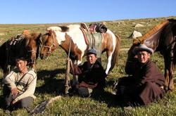 Nomads with their horses