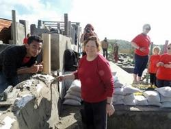 Projects Abroad volunteers work on a Building project in Cape Town.