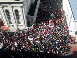 Human Rights in South Africa - Strike in Cape Town