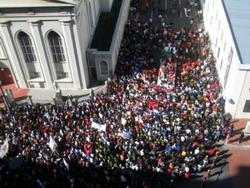 A protest march