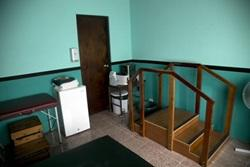 The physiotherapy room at one of the physiotherapy placement in Costa Rica