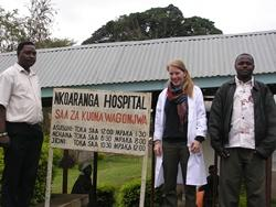 Volunteer and staff at local hospital