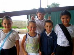 Students at a school placement