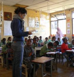 Teaching English in a school