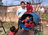 Volunteer Story by Andrew Fryer - Playing With Local Children