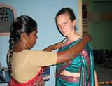 Volunteer Story by Claire Bailey - Being Dresses By My Indian Mum